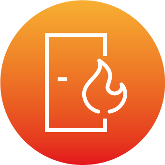 Fire safety door icon
